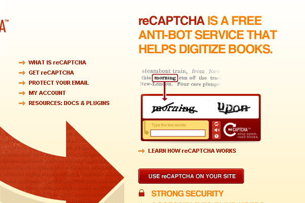 Register your site to embed reCaptcha