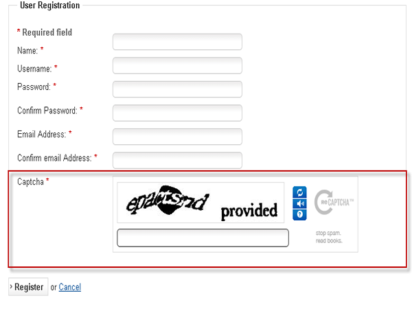 Preview of User Registration Form