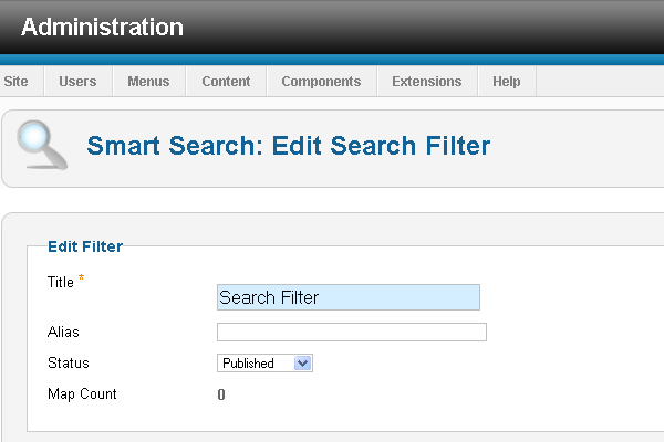 Edit Smart Search Filter
