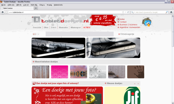 The website http://www.tabletdoekjes.nl/