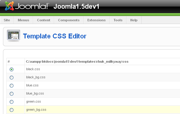 Working with joomla 15 templates and joomla 25 templates are template css editor in joomla 15 pronofoot35fo Image collections