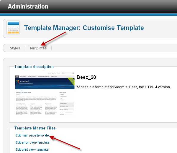 Working with Joomla 1.5 templates and Joomla 2.5 templates? Are ...