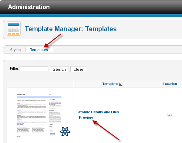View Preview in Joomla 2.5