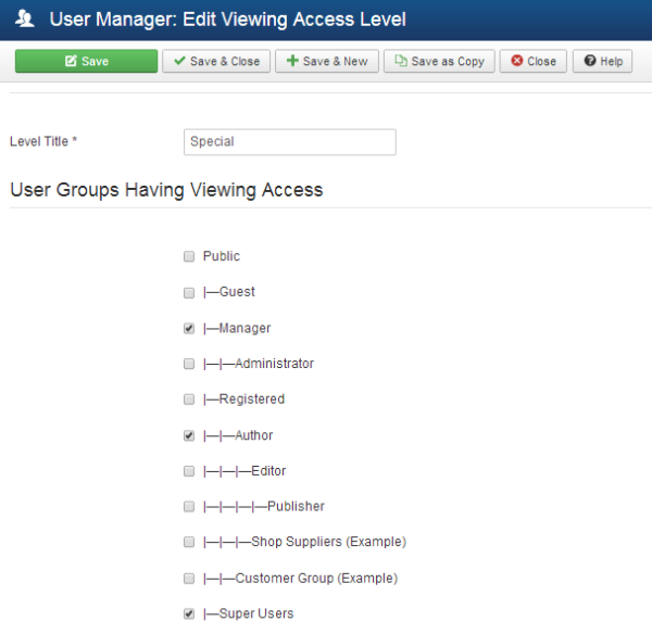 Joomla user access control is just powerful