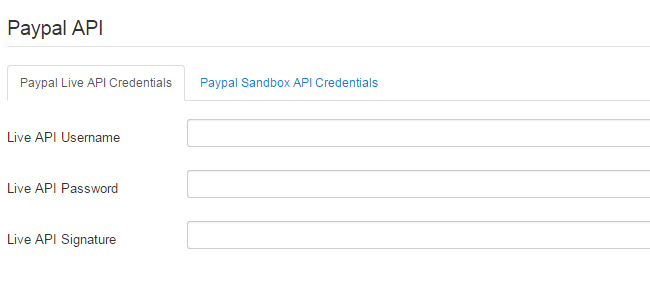 Create a payment form in Joomla 3.x - API PayPal