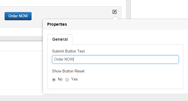Edit button for your Joomla payment form