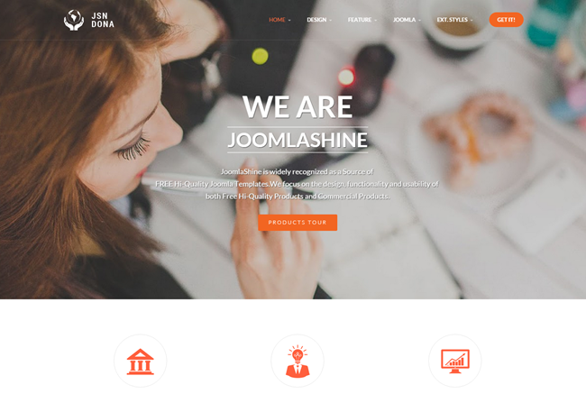 JSN Dona - Free responsive template for Joomla 3.x