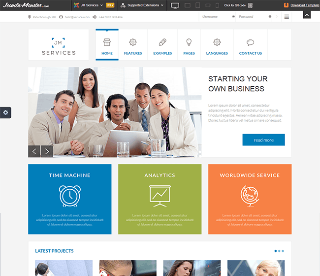JM Service - Free responsive template for Joomla 3.x