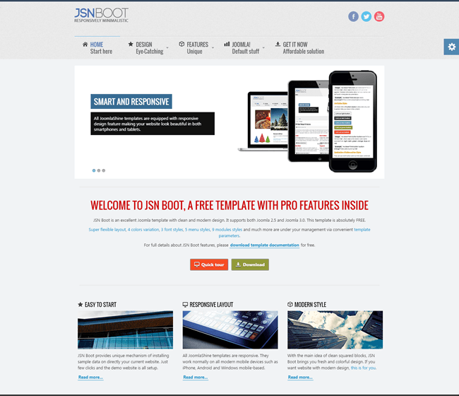 JSN Boot - Free responsive template for Joomla 3.x