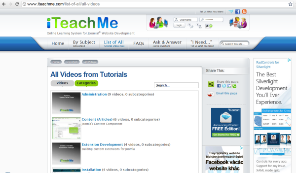 Video tutorial resource - iTeachMe website