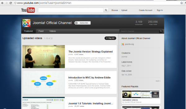 Video tutorial resource - Joomla! Official Channel