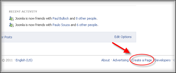 How to integrate the Facebook module - Create a page