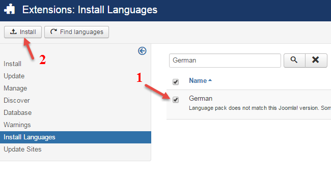 Select language to install