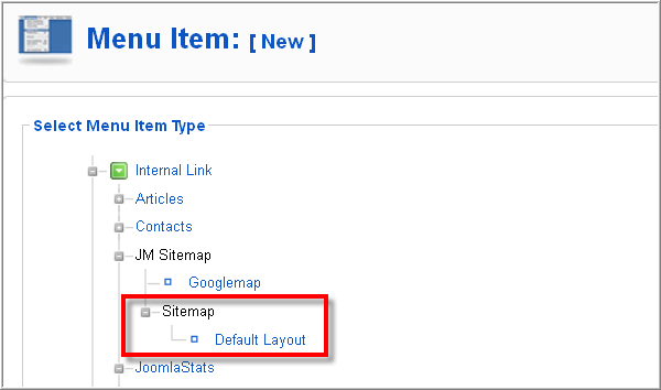 Free Joomla SEO plugin - Create a Menu link for JM Sitemap