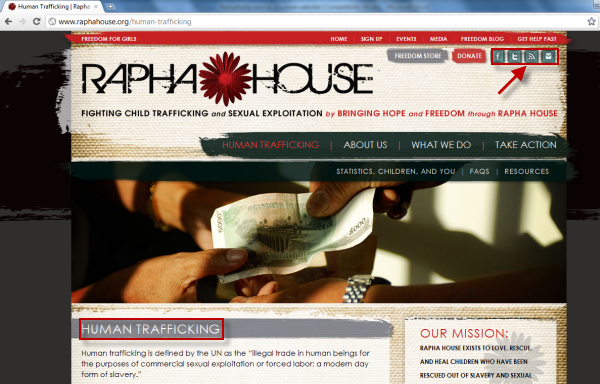 Joomla powered websites - Rapha House - Social media