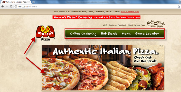 Joomla powered websites - Marco's Pizza