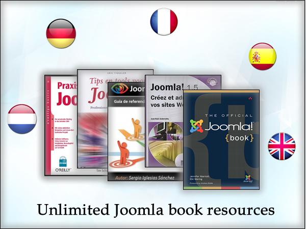 Unlimited Joomla books resources in multiple languages