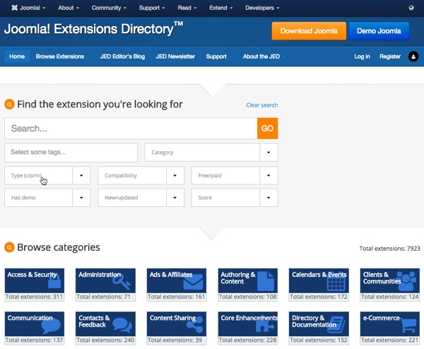 Why choose Joomla-Joomla Extension Directory
