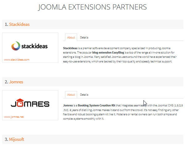 JoomlaShine Customer Area