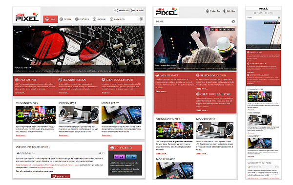 All JoomlaShine templates are responsive - Check it out!