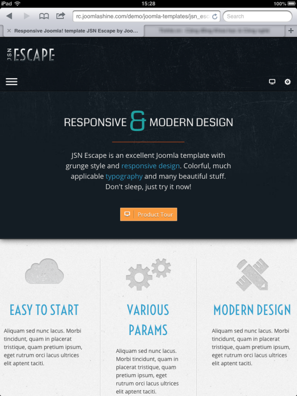 JSN Escape | Responsive layout