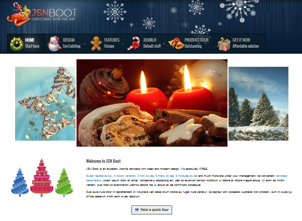 JSN Boot – a free, yet full-feature  Joomla template for Christmas