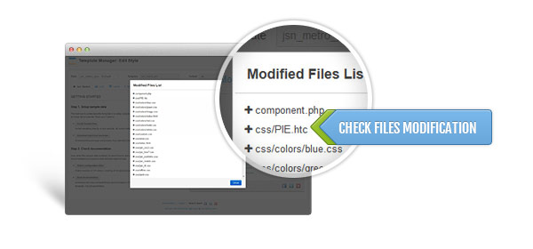 Check files modification