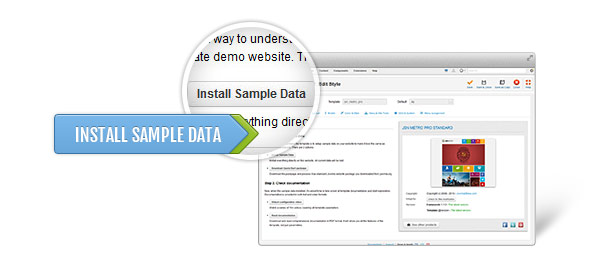 Install sample data