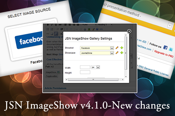 JSN ImageShow v4.1.0 - Get new features, get new experiences