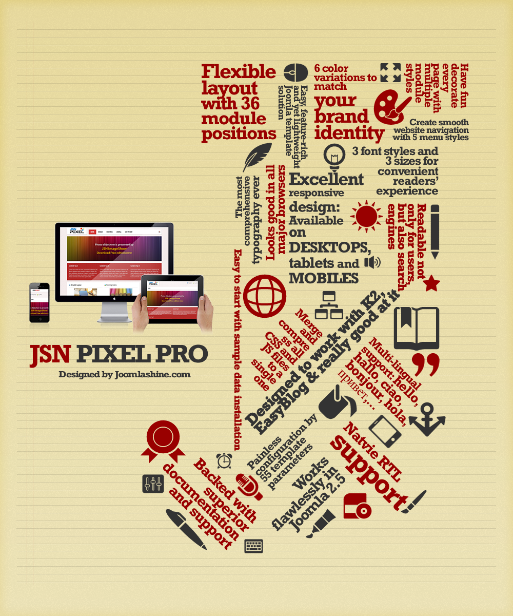 JSN Pixel  template with EasyBlog supported