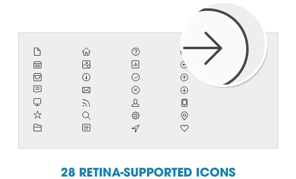 28 retina-supported icons