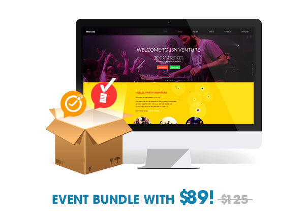 Event bundle with $89
