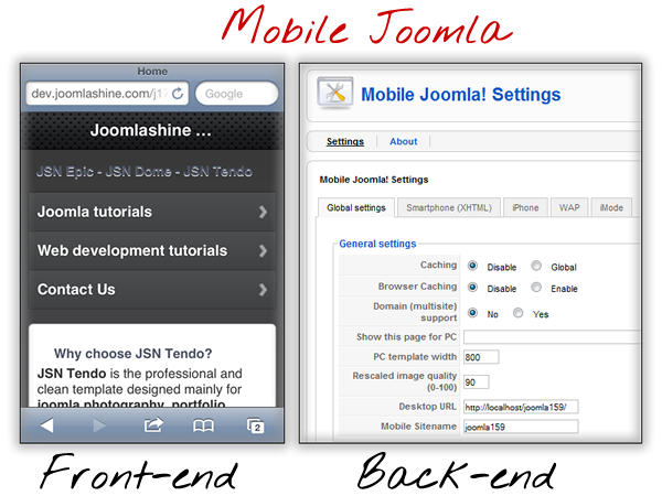 Mobile Joomla plug-in