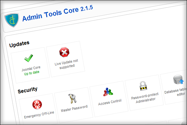 Admin Tools Site Protection