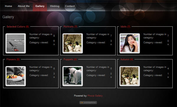 Build Joomla photo gallery website with Phoca Gallery