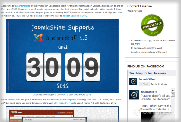 A blog post with images| Joomla blog