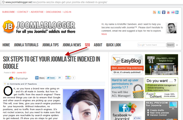 joomlablogger: Get your Joomla indexed in Google
