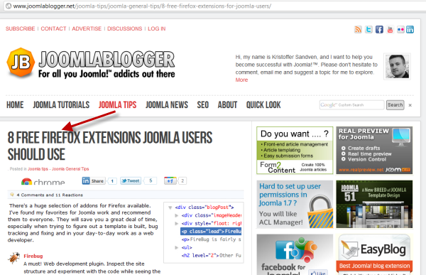 joomlablogger: Free Firefox extensions for Joomla