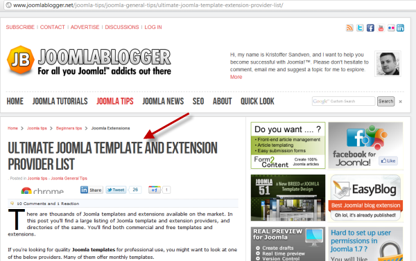 joomlablogger: Joomla template and extension providers