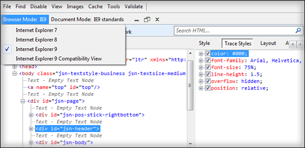 The web development tools to start working with Joomla