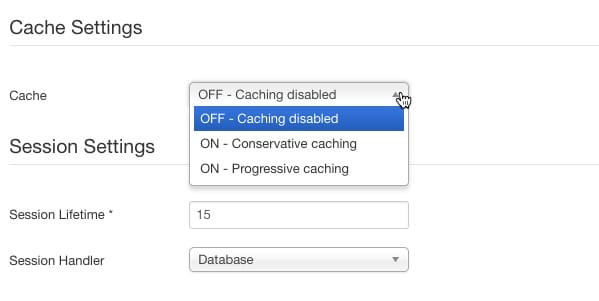 Enable module cache setting