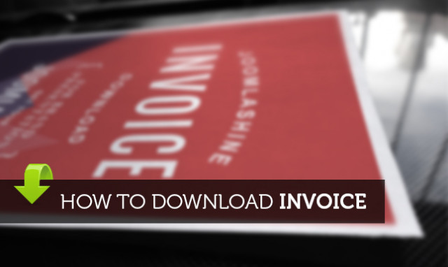 How to download invoice after purchasing JoomlaShine products