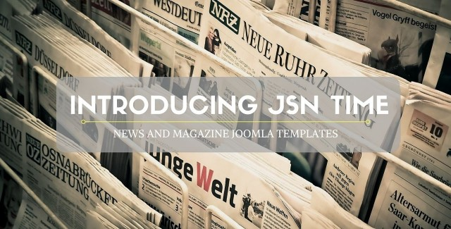 JSN Time – Special Template of 2015 for News and Magazine Websites