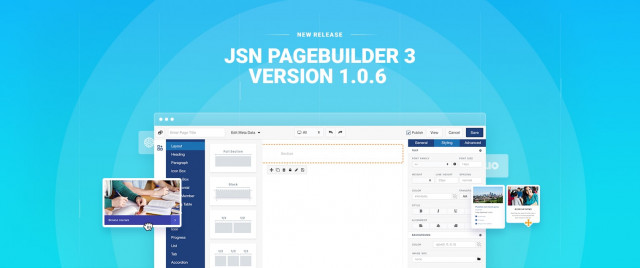 Released JSN PageBuilder 3 version 1.0.6 - Immediate upgrades