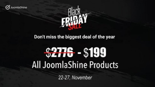 Black Friday and Cyber Monday - Special Deals from JoomlaShine and Partners