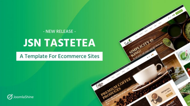 Release: TasteTea - A Fresh Joomla Template For Single-Product Sites