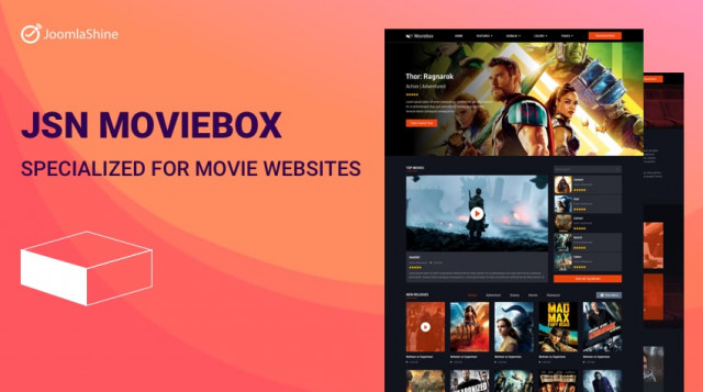 Release: The First And Unique Movie Template of JoomlaShine - JSN Moviebox
