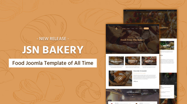 Release: JSN Bakery - Food Joomla Template of All Time