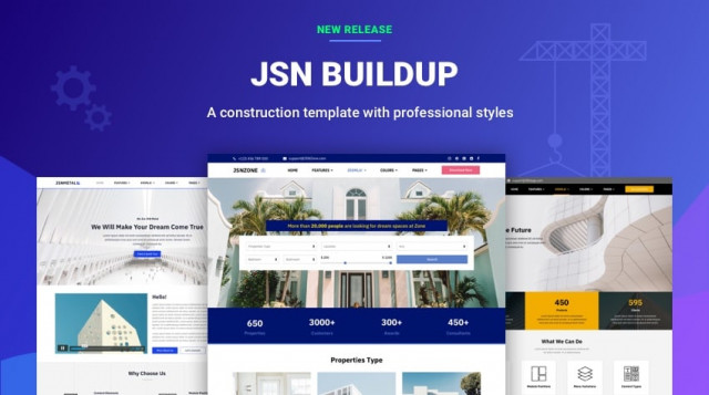 [Release] JSN BuildUp - An Ideal Template For Construction Sites