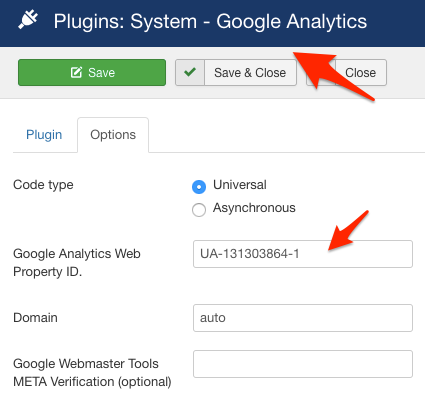 Asynchronous Google Analytics plugin